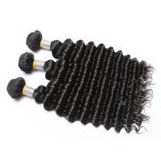 MSU Hair Products Natural Colour 25cm 3 Bundles 7A Grade Malaysian Virgin Hair Deep Wave Unprocessed Virgin Hair