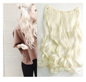 Platinum Blonde Solid Colours Clip in Hair Extension, Synthetic Hair extensions UF520
