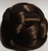 BUBBLE Dome Wiglet Chignon Bun Hairpiece - 8 Chestnut Brown
