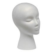 Banggood Appropriative Styrofoam Wig Head (Female)Head Model Dummy Wig Glasses Hat Display Stand Pack of 1