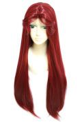 Anogol Women's Teen Titans Starfire Wig for Cosplay Party Fancy Dress Hair Wigs DM-934