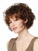 B-G Charming Wigs New Fashion Women Party Cosplay Short Sexy Full Hair Wig Human Hair Natural Looking + A Free Wig Cap WIG028