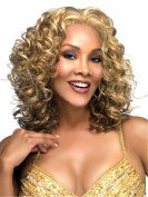 B-G Charming Wigs New Fashion Women Party Big Wavy Sexy Full Hair Wig Human Hair Natural Looking Golden Wigs + A Free Wig Cap WIG032