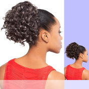 DS006 (Foxy Silver) - Synthetic Ponytail in JET BLACK