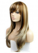 Meditative Rose Fashion wig mixed colour cosplay long straight hair