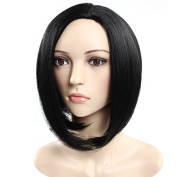 Secretgirl Straight Short Synthetic Hair Bob Wigs None Lace Cosplay Wig for Women Black Colour