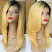 PlatinumHair ombre short bob straight wigs synthetic lace front bob wigs glueless for black women 36cm - 46cm