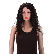 Merrylight Natural Fluffy Curly Women Hair Wig Length 60cm