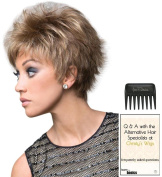 Lizzy Wig by Rene of Paris, Christy's Wigs Q & A Booklet & Wide Tooth Comb colour SELECTED