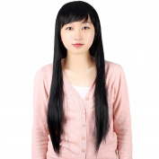 Molain Wig Women Cosplay Hair Wigs with Wig Cap and Comb 80cm Black Straight
