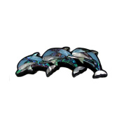Storrs Wild Pearle Handmade Abalone Shell Hair Barrette Swimming Dolphins HB8599166