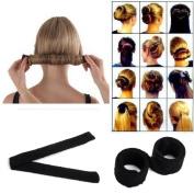 DIY Hair Bun Updo Fold, Wrap & Snap Styling Tool