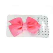 Fuchsia Grosgrain Ribbon Bow on Beak Clip
