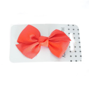 Red Grosgrain Ribbon Bow on Beak Clip