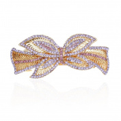 Multicolor Hair Bow Hair Clips Crystal Barrette for women