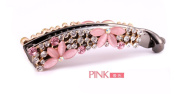 Casualfashion Korean Style Crystal Rhinestone Banana Clip for Women Girl Ponytail Vertical Clip Barrette