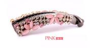 Casualfashion Korean Style Crystal Rhinestone Banana Clip for Women Girl Ponytail Vertical Clip Barrette