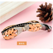 Casualfashion Women's Rhinestone Hair Decoration Banana Hair Pin Clip Barrette Clamp Claw Ponytail Holder