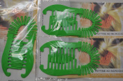 3 sets of Interlocking Banana Combs Hair Clip French Side Comb Holder 80's 90's Soft and Bendable Plastic Updo Hair Clip