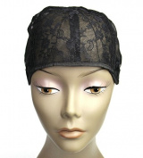 MsFenda Black Colour 3pcs/lot Medium Size full lace wig cap Wig Making Cap Glueless Wig Cap adjustable Wig Cap