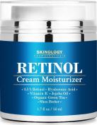 Crema Retinol Para La Piel - Con Vitamina C y Acido Hialuronico - Mejor Suero Antiarrugas y Antienvejecimiento