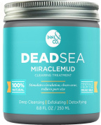 [HIGHEST QUALITY] Dead Sea MIRACLEMUD Clearing Treatment 260ml - Mud Mask, Facial Treatment, Minimise Pores, Reduce Wrinkles, Improves Complexion, Pull Toxins, Acne, Blackheads, Scars