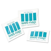 (100 per Carton) Wet-Nap Towelette in White by NICE-PAK PRODUCTS, INC