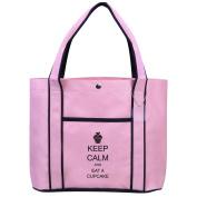 Fashion Tote Bag Shopping Beach Purse Keep Calm and Eat a Cupcake