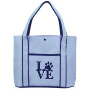 Fashion Tote Bag Shopping Beach Purse Love Paw Print