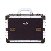 Sunrise Vintage Makeup Cosmetic Train Case with Adjustable Dividers