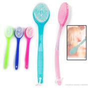 1 Random Colour TZIPCO Bath Brush Back Scrub Scrubber Shower Body Skin Exfoliating 34cm Long Handle