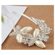 Lovef Lovely Vintage Rhinestone Pearl Jewellery Crystal Hair Clips Hairpins