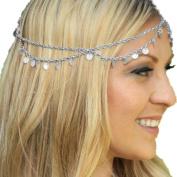 OVERMAL Fashion Women's Headband Head shiny Piece Hair Band Tassels