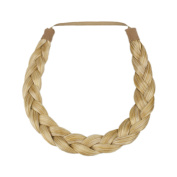 Milano Collection PREMIUM Braided Hairband 1.3cm Inch Thick - Medium Blond