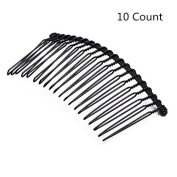 Lovef 10pcs 20 Teeth Twist Magic Hair Comb Pin Black Hair Accessories Iron Women Lady Vintage Handmade DIY Hair Jewellery Fashion New