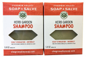 Chagrin Valley Soap & Salve - Organic Natural Shampoo Bar - Herb Garden 2X Pack