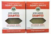 Chagrin Valley Soap & Salve - Organic Natural Shampoo Bar - Herb Garden 2X Pack