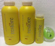 Cosmo Hair Restore Silk Shampoo for Damage, dry Treated Hair 1000ml, Mask, Shining Memory Leave-in and AJ Shampoo brush Bundle