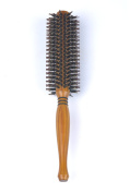 SUPRENT Natural Boar Bristle Round Hair Brush With Natural Wood Handle, 5.1cm