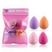 DATEWORK 4pcs Pro Beauty Flawless Makeup Blender Foundation Puff