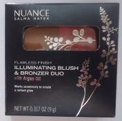 Nuance Salma Hayek Flawless Finish Illuminating Blush & Bronzer Duo with Argan Oil #555 Coral Glow