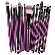 DATEWORK 15 pcs/Sets Foundation Eyebrow Lip Brush Makeup Brushes