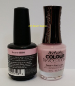 Artistic Nail Design - Duo Colour Gloss Soak off Gel colour and Matching Revolution nail Polish -