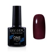 Gellen Soak Off One Step Gel Nail Polish No Need Base Top Coats 3 In 1 UV/LED Cure 10ml Colour #06