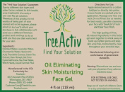 TreeActiv 100% Oil Free Acne Face Gel - Perfect Solution For Oily Acne Prone Skin- To Heal Acne Skin, Whiteheads, Blackheads and Pimples