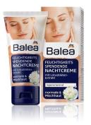 Balea Regenerating Night Face-Cream with Lotus Flower Extract - No Silicones / No Ethanol-Alcohol / PEG-free / Vegan / No Animal Testing - 50ml by Balea