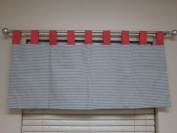 bkb Window Valance, Coral Ziggy