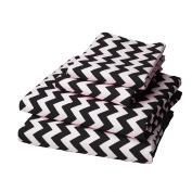 bkb Chevron Round Crib Bedding, Black