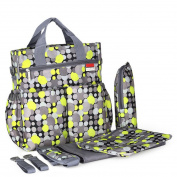 2016 New Stylish Mommy Nappy Bag, Plus Baby Changing Pad, Stroller Straps , Colourful Polka Dot Pattern, Insulated Bottle Holder, Tote Shoulder Baby Nappy Bags