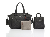 Storksak Bobby Quilted Nappy Tote Bags, Charcoal